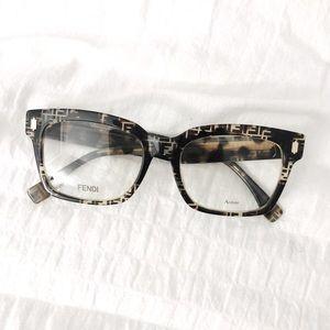 NWT FENDI Square Monogram Logo Eyeglasses